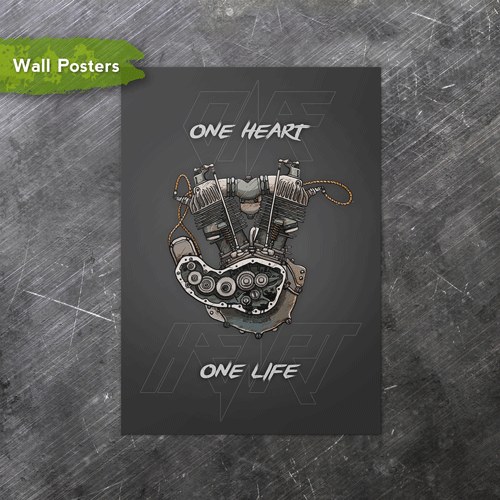 One Heart | A3 Posters