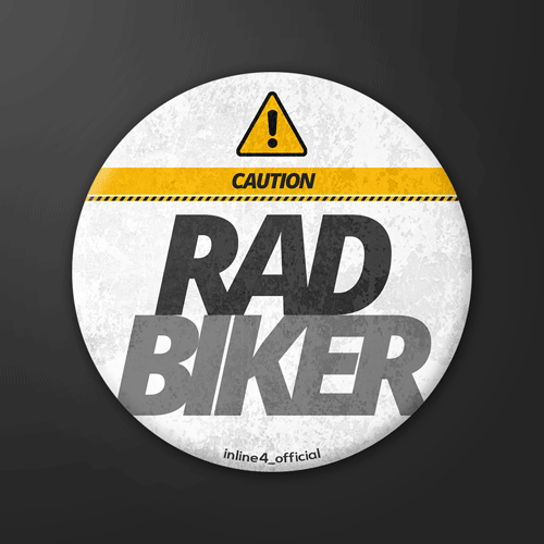 Rad Biker | Badge